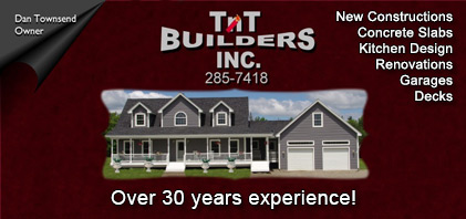 Over 25 years of experience in comercial and residential services including new construction, renovations, concrete slabs, kitchen design, decks and garages.