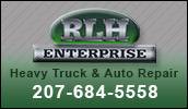 RLH Enterprise is a heavy equipment service and sales center located in Strong, Maine.
