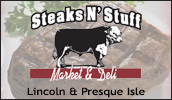 We are your Shurfine local supermarket. Whether you're shopping for everything on your grocery list or just need a few of specialty items, Steaks N' Stuff Market And Deli will have what you need.